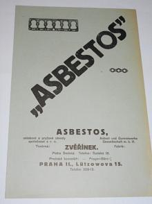 Asbestos Zvěřínek - těsnění pod hlavy válců - leták - Aero, Praga, Škoda, Tatra, Walter, Z, Jawa, Wikov