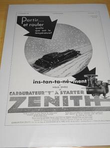 Zenith - reklama ze starého časopisu - 1933