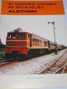 Alsthom - les locomotives universelles AD 24 C et AD 28 C - prospekt - 1979