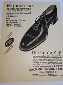F. L. Popper Chrudim - boty - leták - reklama