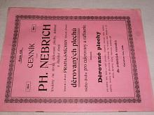 Cenník děrovaných plechů všeho druhu pro cukrovary a raffinerie + plakát - Ph. Nebrich