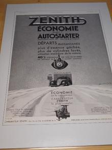 Zenith - reklama ze starého časopisu - 1934
