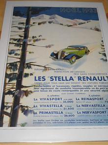 Renault - reklama ze starého časopisu - 1933