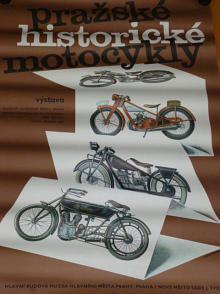 Pražské historické motocykly - plakát - 1987