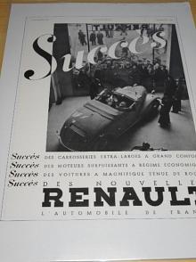 Renault - reklama ze starého časopisu - 1935