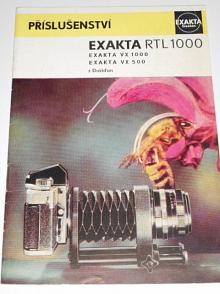 Exakta - příslušenství Exakta RTL 1000, VX 1000, VX 500 - 1974 - prospekt