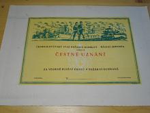 Československý svaz požární ochrany - čestné uznání