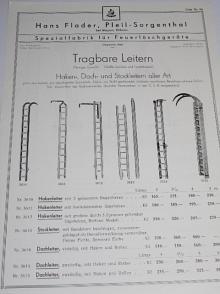Flader - Tragbare Leitern - 1934 - prospekt - hasičské žebříky