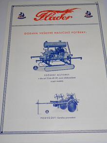 Flader-požární motorky, podvozky, auto Tatra Krnov-prospekt