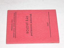 Bojový řád požárních jednotek - 1957