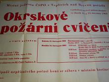 Okrskové požární cvičení 1963 - Teplice nad Bečvou - plakát
