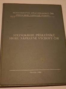 Stejnokroje příslušníků sboru nápravné výchovy ČSR - 1988