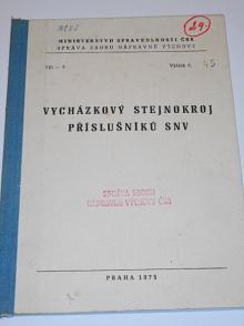 Vycházkový stejnokroj příslušníků SNV - 1975