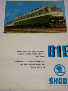 Škoda Plzeň - 81 E - electric locomotive - prospekt