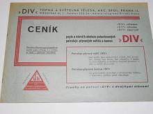 DIV - petrolejo-plynový vařič a kamna - ceník, popis, návod