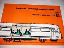 WB - 2 achsige Leichttriebwagen - Einheit  - prospekt - 1964