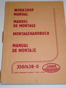 JAWA 350/638-0 - Workshop Manual, Manuel de montage, Montagehandbuch, Manual de montaje - 1987
