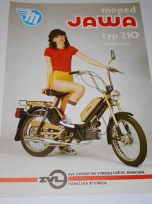 JAWA moped typ 210 automatic - Babetta - prospekt