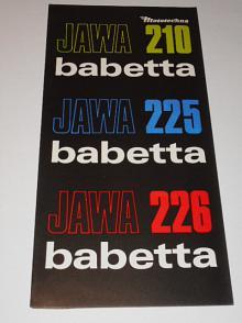 JAWA  Babetta 210, 225, 226 - Mototechna - prospekt
