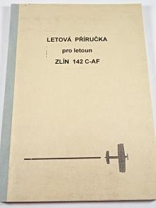 Letová příručka pro letoun Zlín 142  C-AF - 1994 - Moravan, a.s. Otrokovice