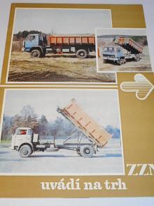 ZZN uvádní na trh - valník s bočním sklápěním, kontejner na popel, přepravní plošinový kontejner, základní vanový kontejner ... prospekt - Liaz