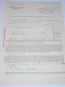 JAWA 350 - 1935 - objednávka + potvrzení