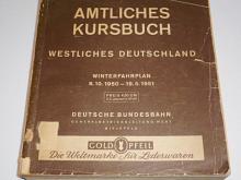 Amtliches Kursbuch Westliches Deutschland Winterfahrplan 8. 10. 1950 - 19. 5. 1951 - Deutsche Bundesbahn