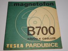 Tesla - magnetofon B 700 - návod k obsluze