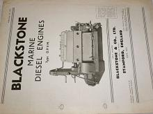 Blackstone - Marine Diesel Engines - prospekt