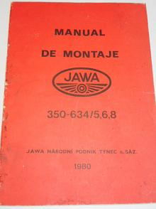 JAWA 350-634/5, 6, 8 - manual de montaje - 1980